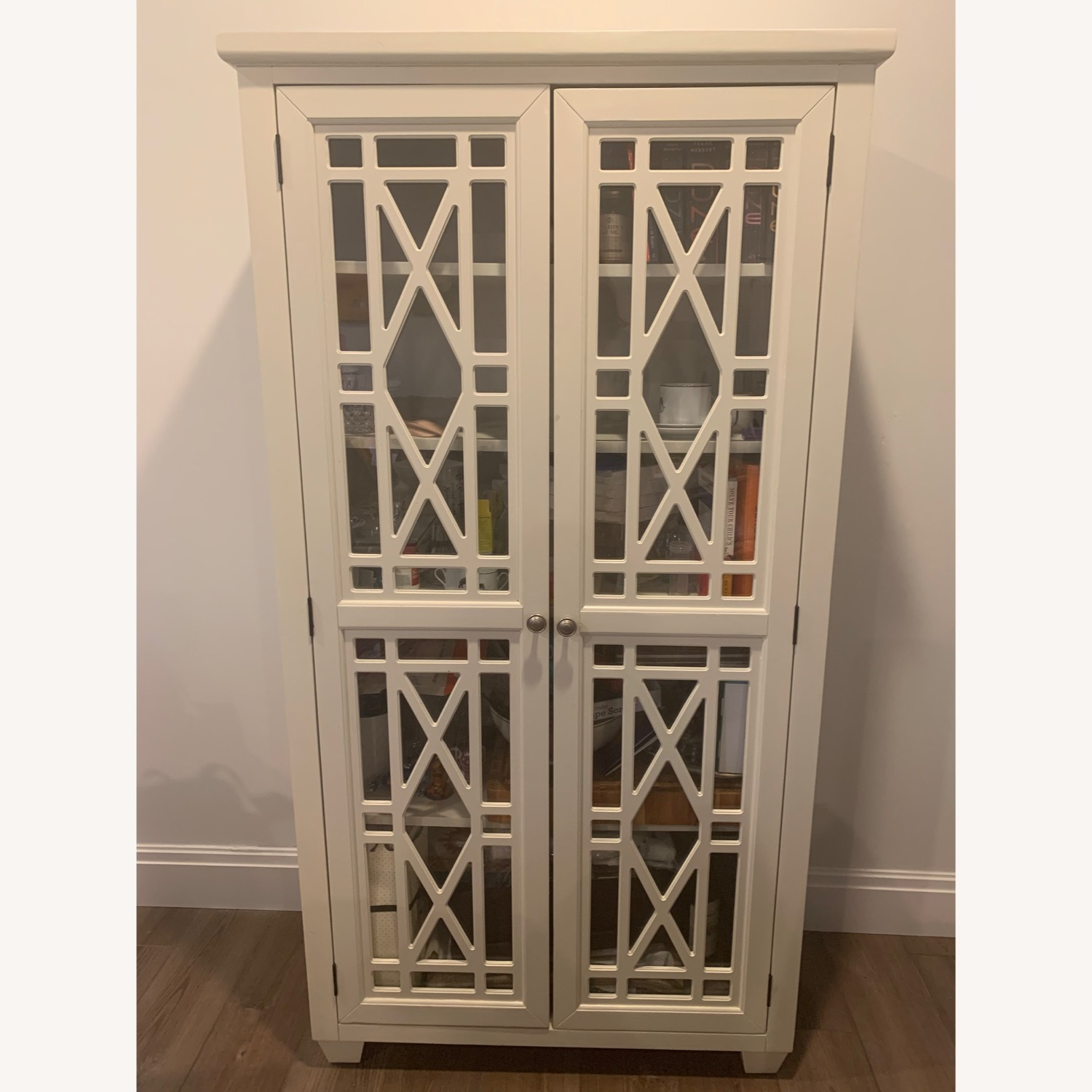 Bob's Discount Lacy Tall 2DR Cabinet Farm House Stlye - image-1