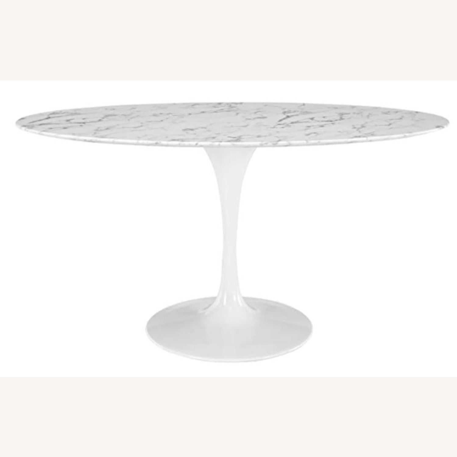 """Mid Century Modern 60"""" Oval Marble Dining Table - image-2"""