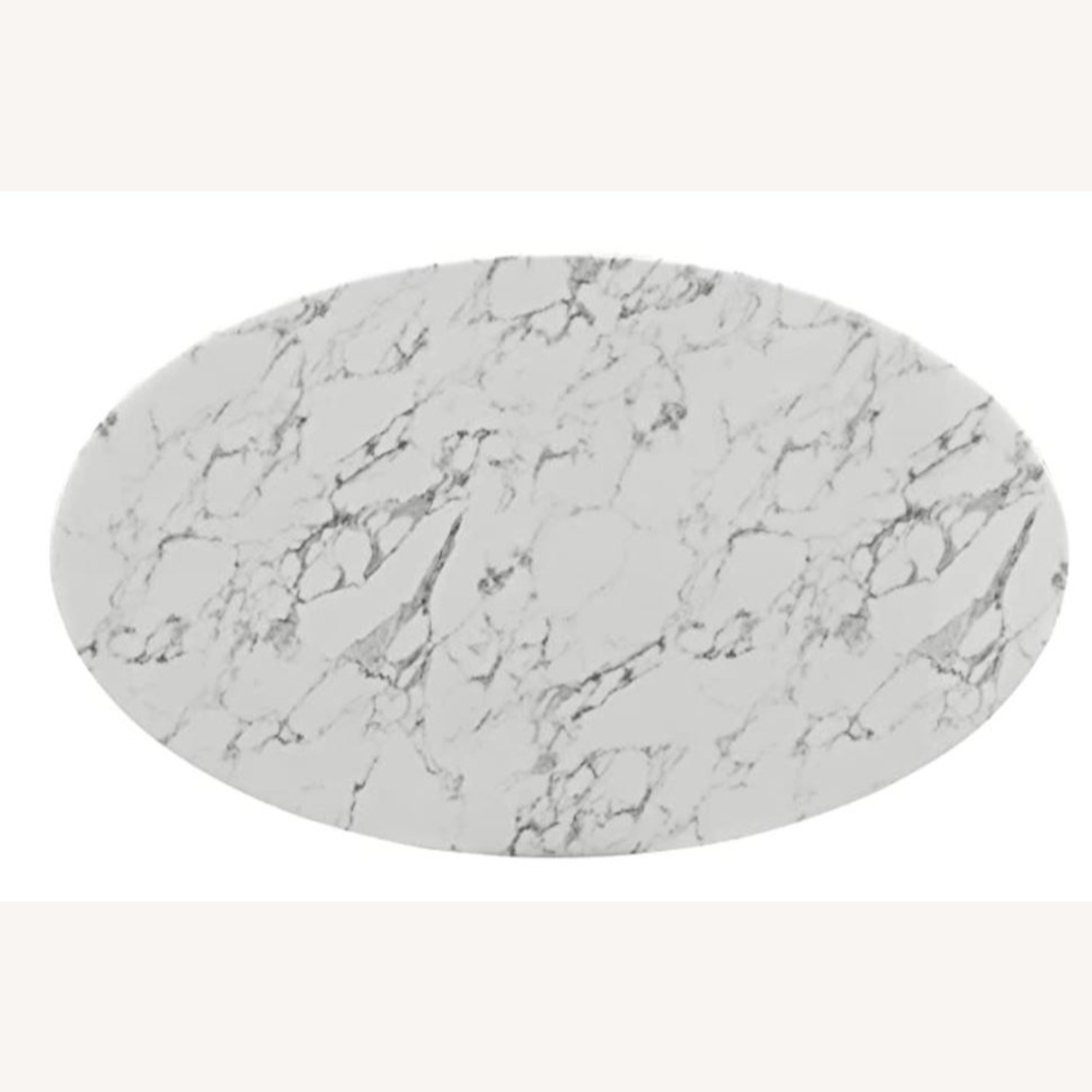"""Mid Century Modern 60"""" Oval Marble Dining Table - image-1"""