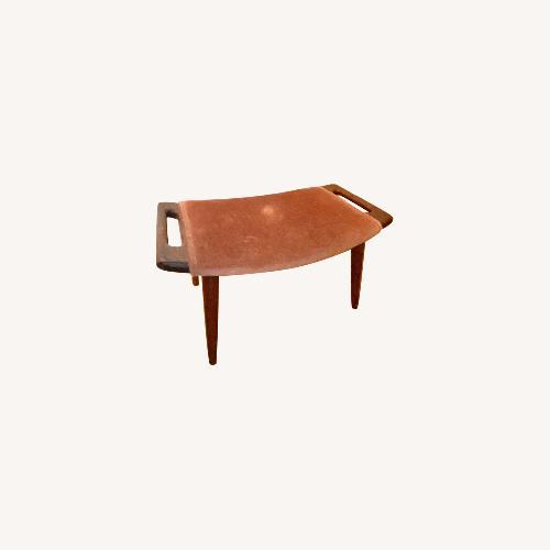 Used Hans Wegner Papa Bear Chair and Ottoman for sale on AptDeco