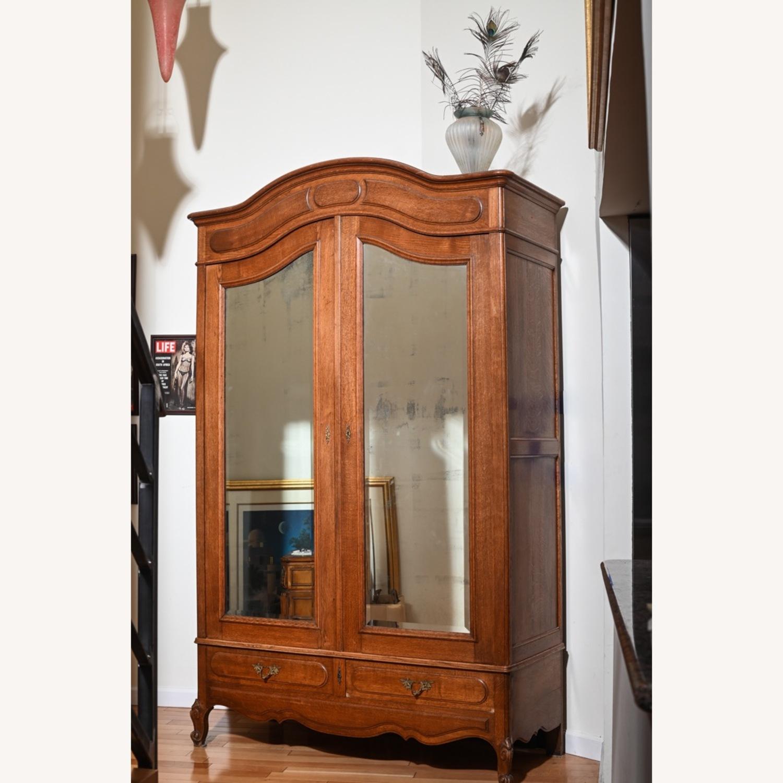Antique Oak Armoire - image-1