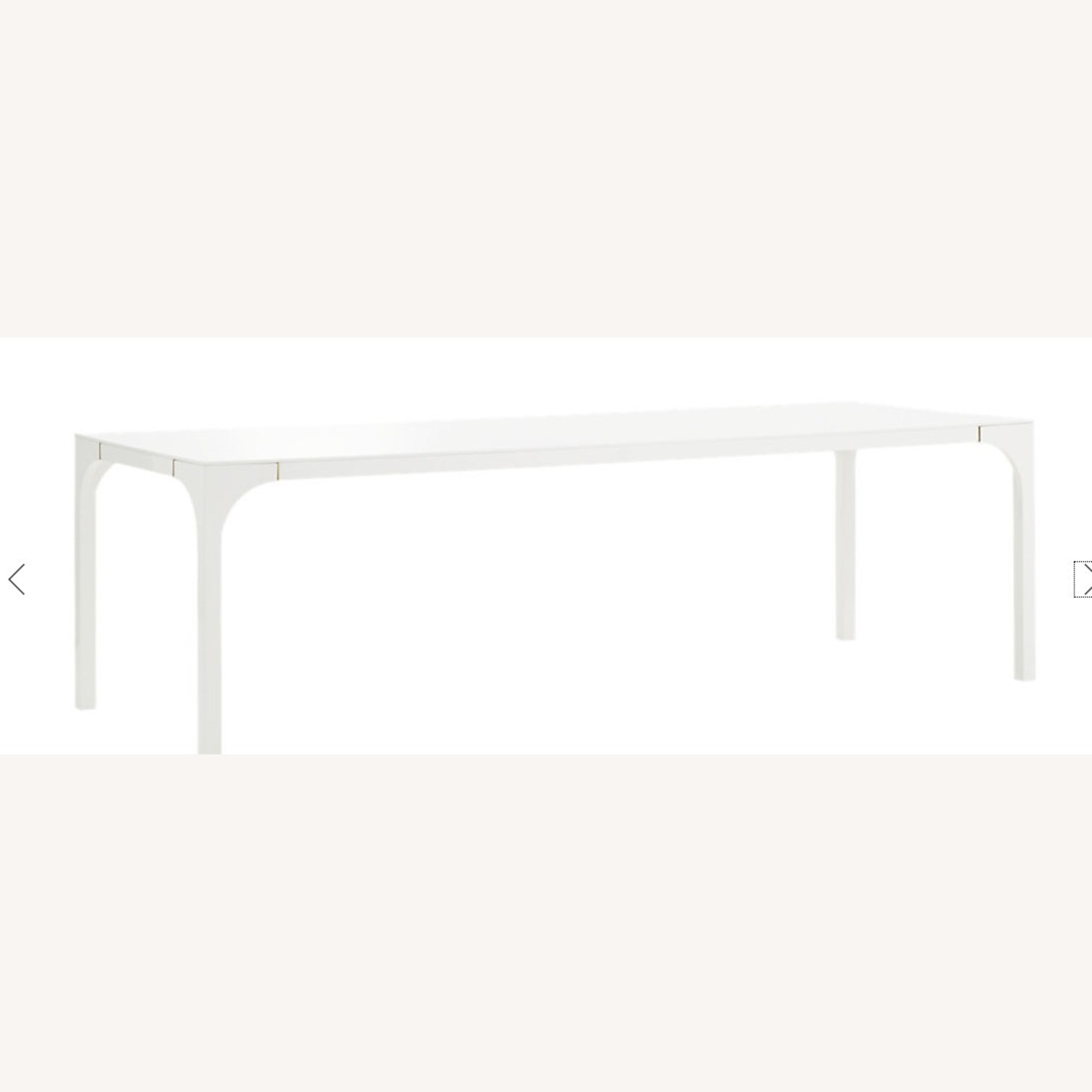 CB2 Large White Dining Table - image-1