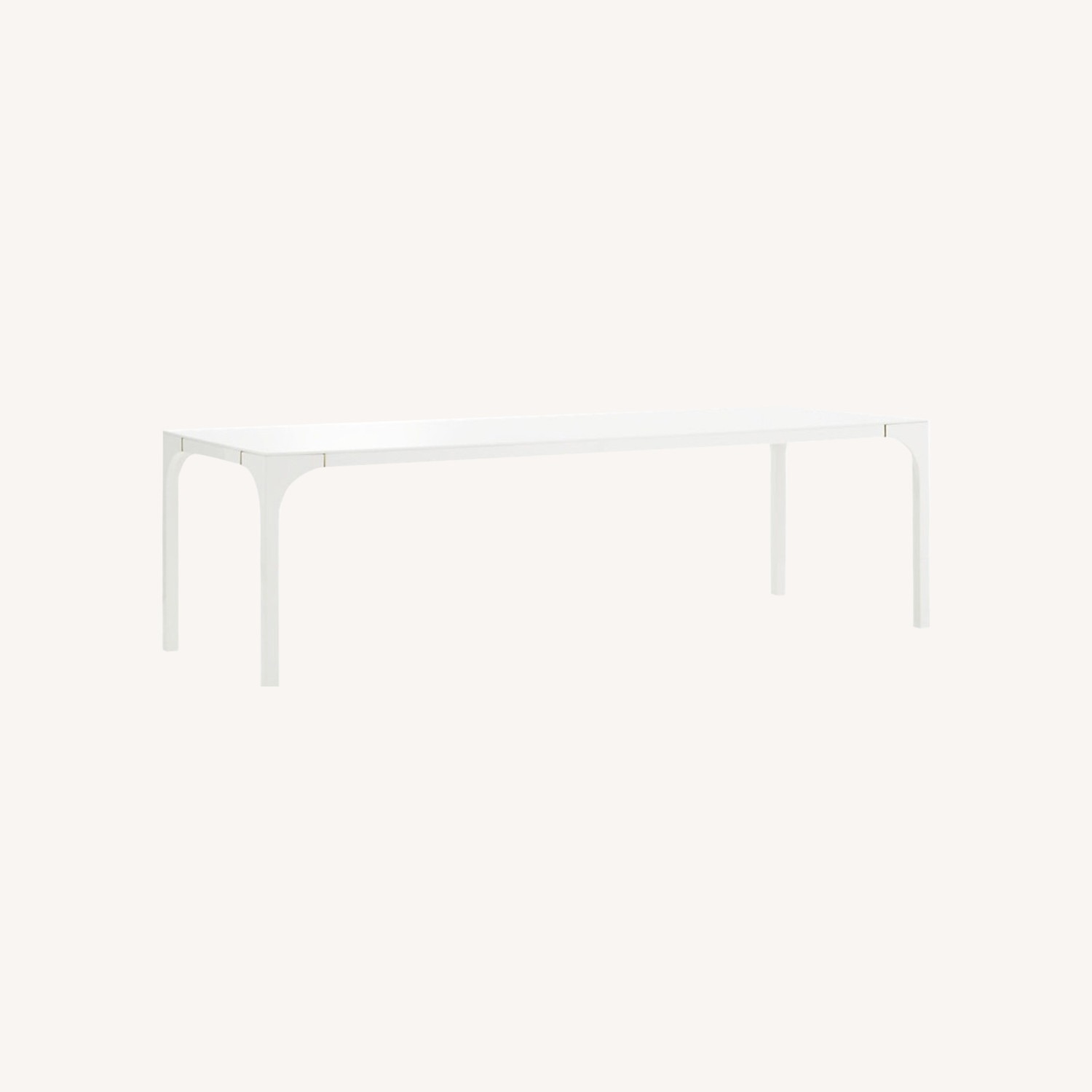 CB2 Large White Dining Table - image-0