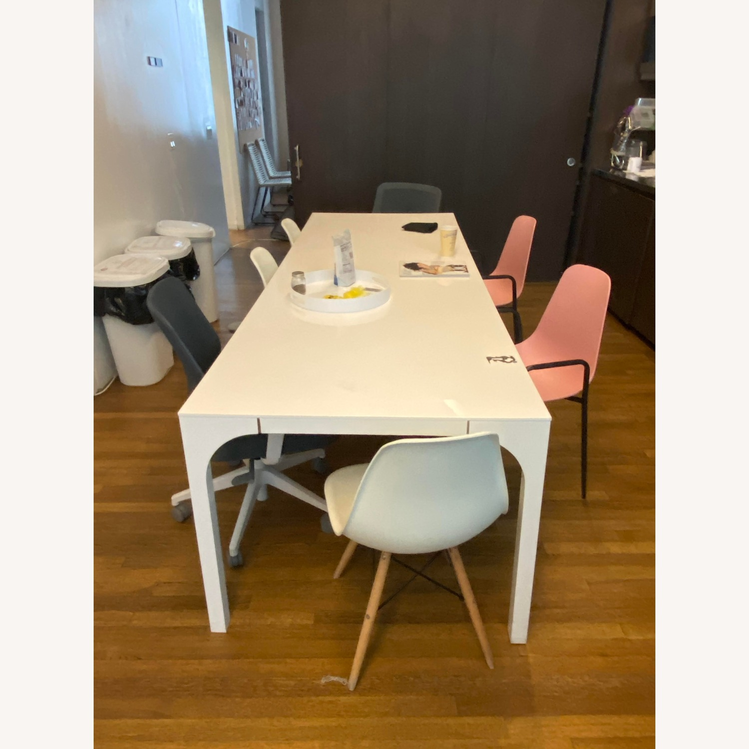 CB2 Large White Dining Table - image-3