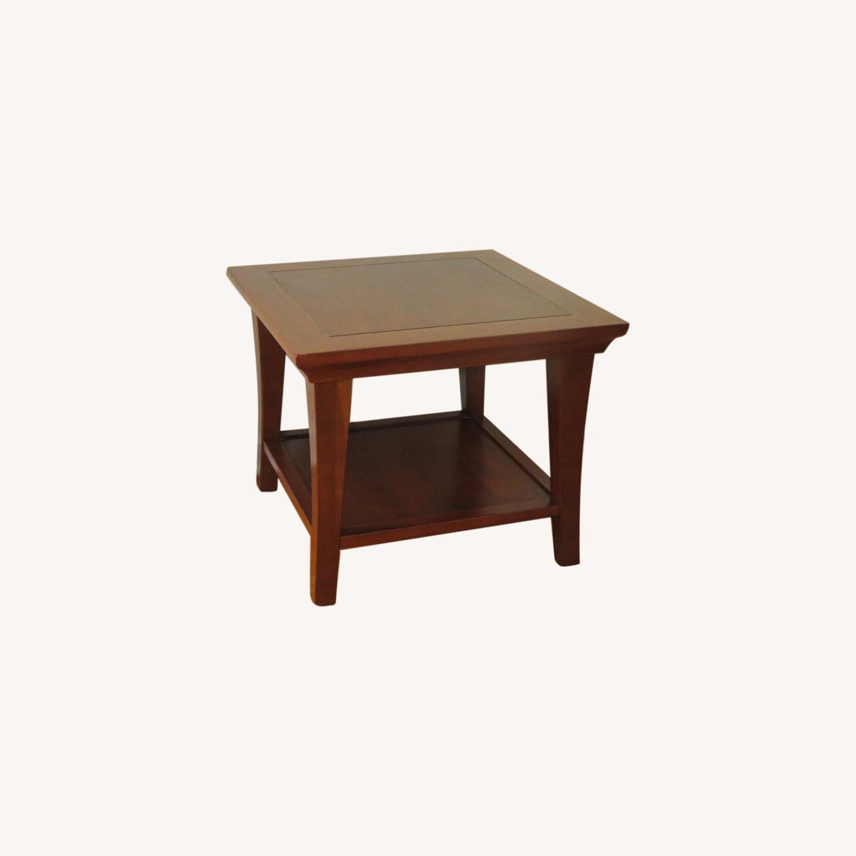 Pottery Barn Metropolitan Cube Tables in Espresso - image-0