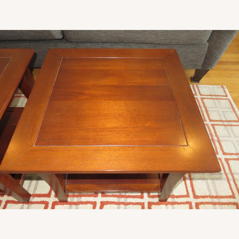 Pottery Barn Metropolitan Cube Tables in Espresso - image-3