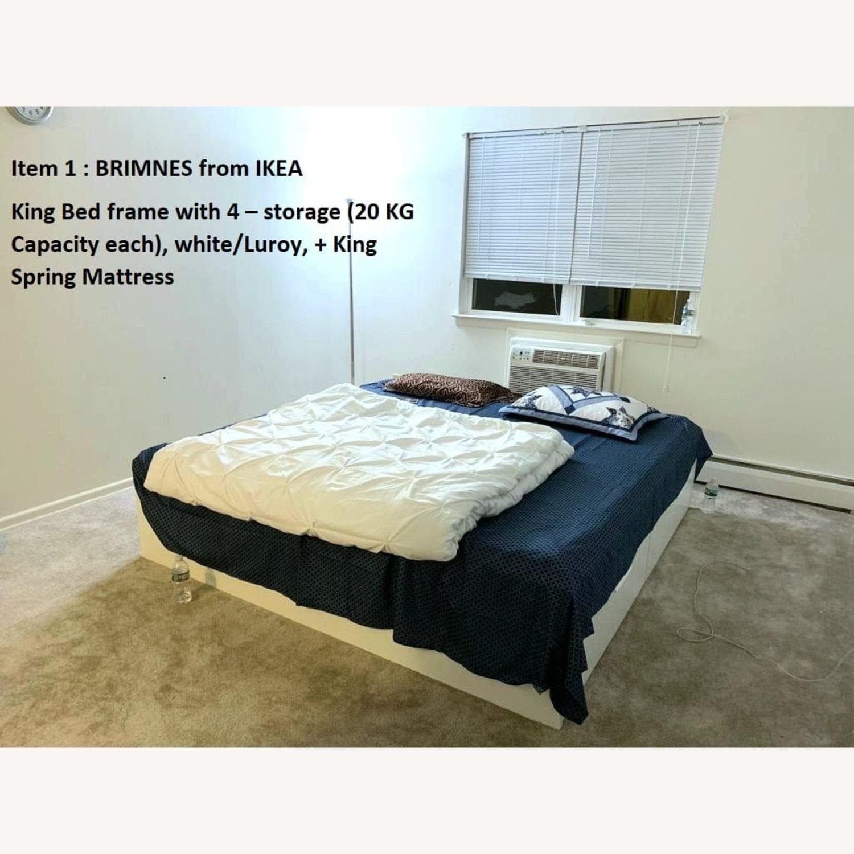 IKEA BRIMNES King Bed Frame with Storage - image-3