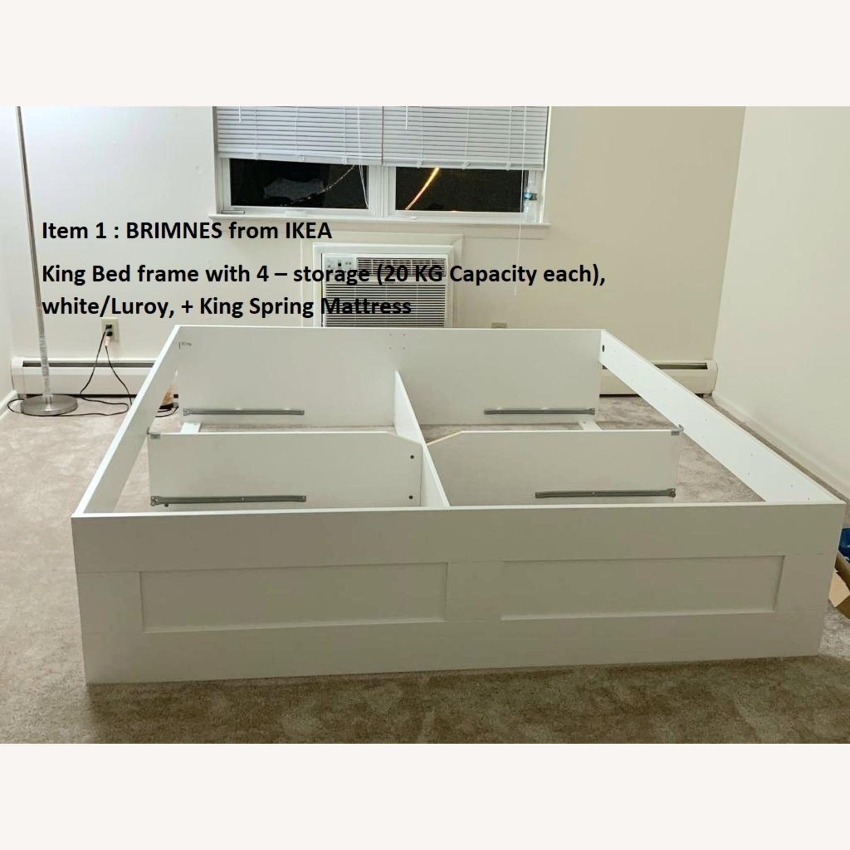 IKEA BRIMNES King Bed Frame with Storage - image-4