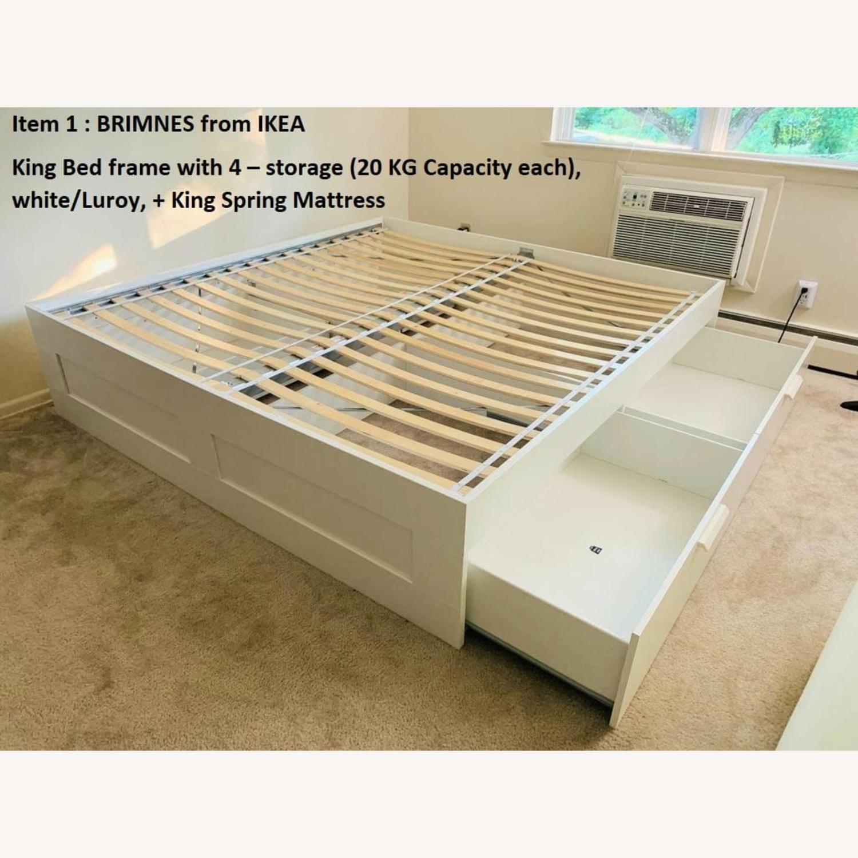 IKEA BRIMNES King Bed Frame with Storage - image-2