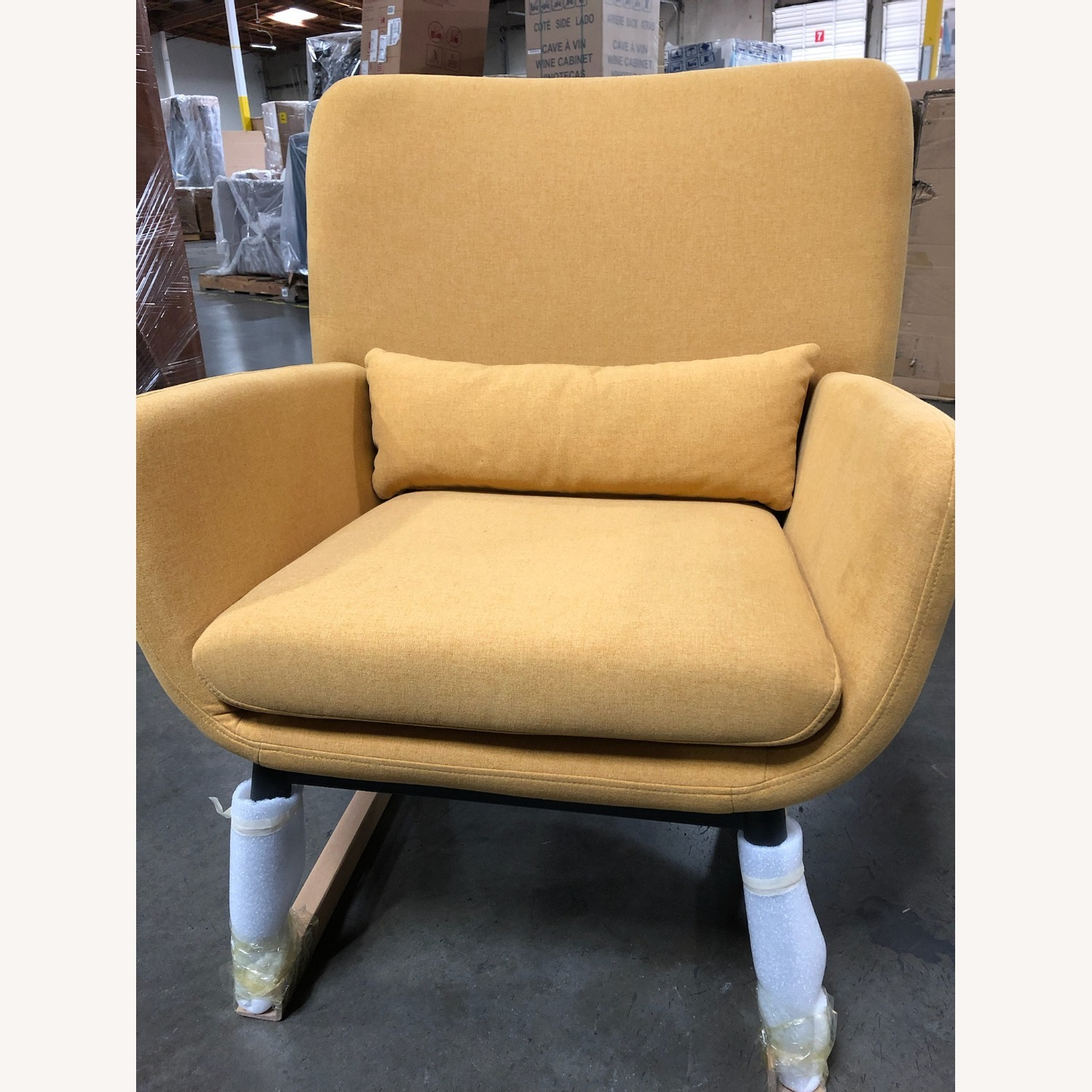 Castlery Cammy Armchair, Canary Yellow - image-1