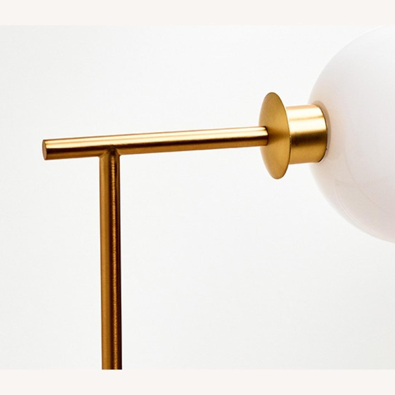 West Elm Metal Frame Glass Globe Lamp - image-2