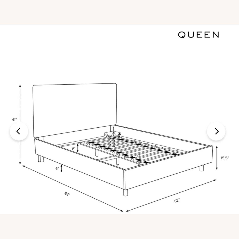 Linen Talc Upholstered Queen Bed - image-5