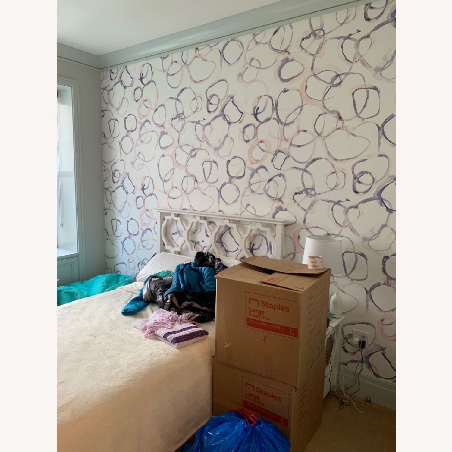 Shabby Chic Full Bed with Attached Headboard - image-4