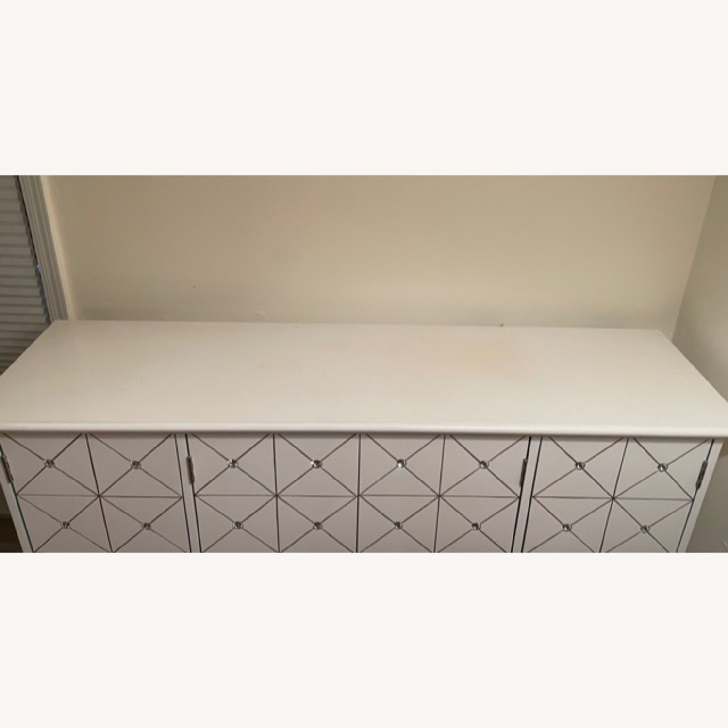 White and Gold Hutch/Media Cabinet - image-3