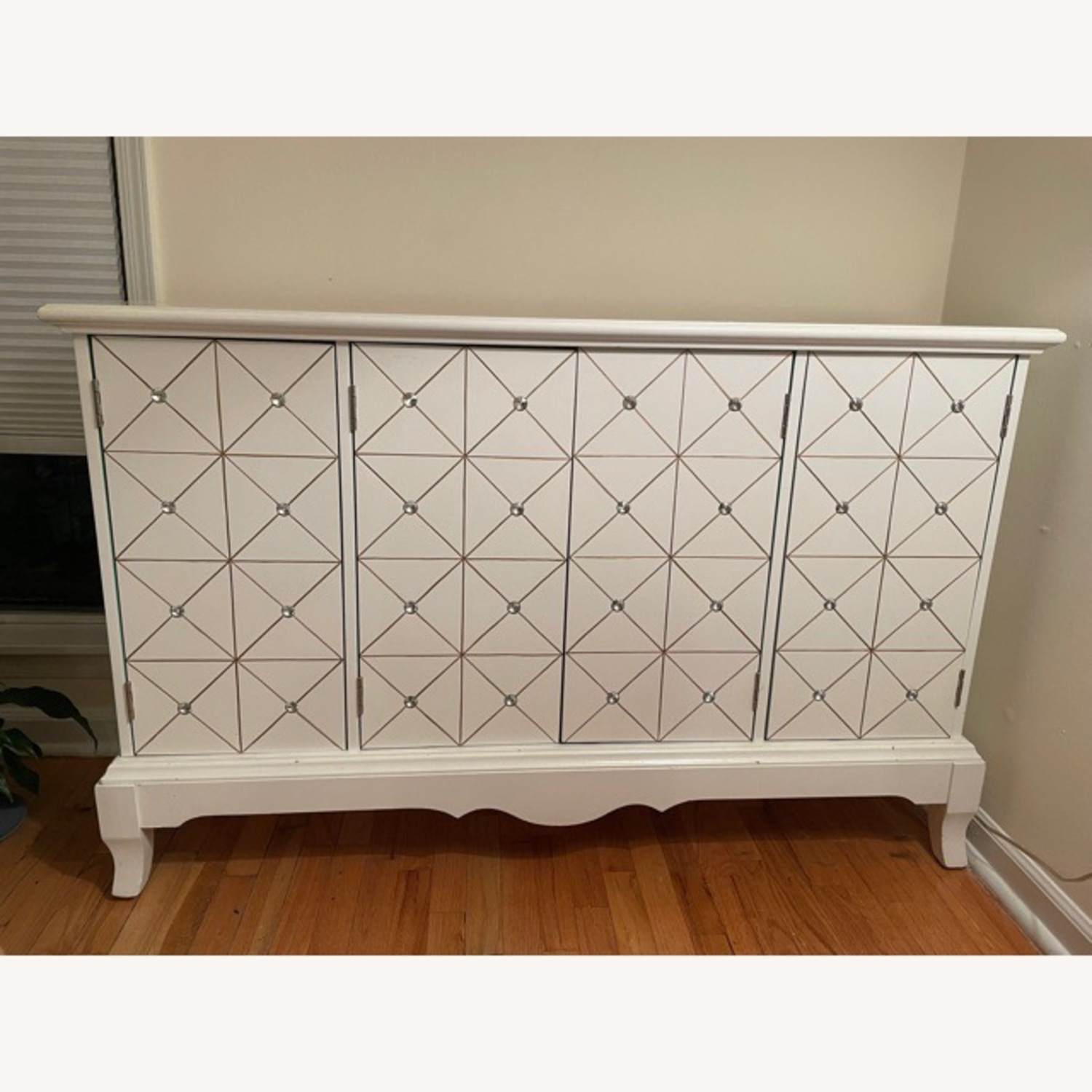 White and Gold Hutch/Media Cabinet - image-6