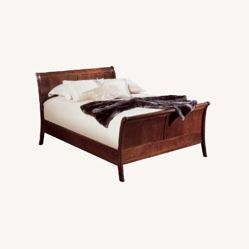 Used Stickley Panel Sleigh Bed for sale on AptDeco