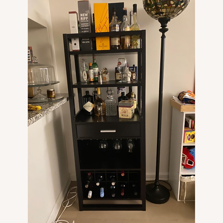 Wayfair Bar Stand with Wine Rack - image-1