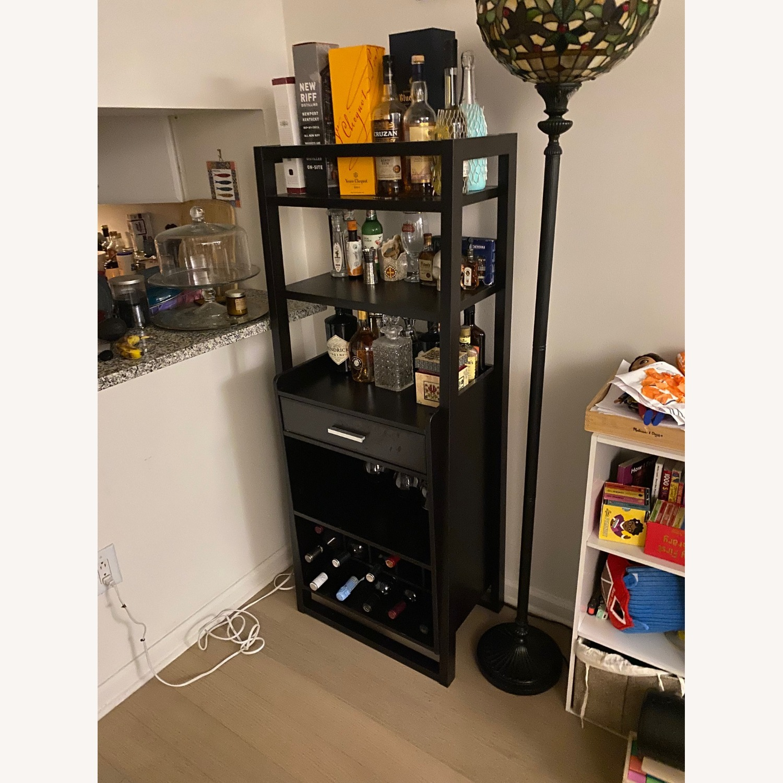 Wayfair Bar Stand with Wine Rack - image-3