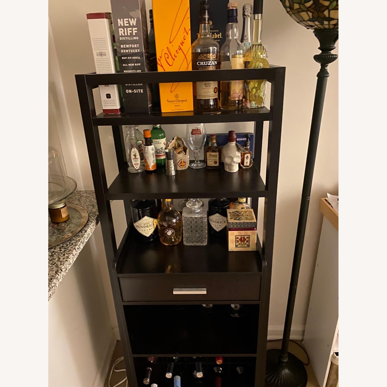 Wayfair Bar Stand with Wine Rack - image-2