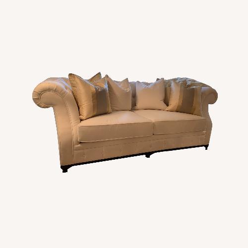 Used Christopher Guy Cream Velvet Sofa for sale on AptDeco