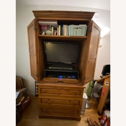 Used Gothic Cabinet Craft TV Storage w/ Drawers 2 Piece for sale on AptDeco