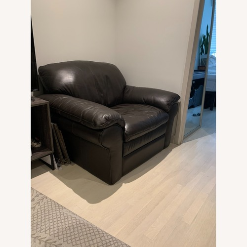 Used Jordan's Leather Arm Chair for sale on AptDeco