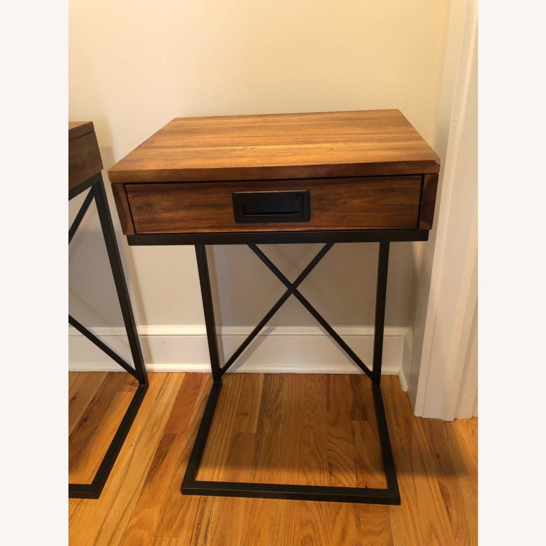 West Elm Narrow Leg End Table - Chocolate - image-2