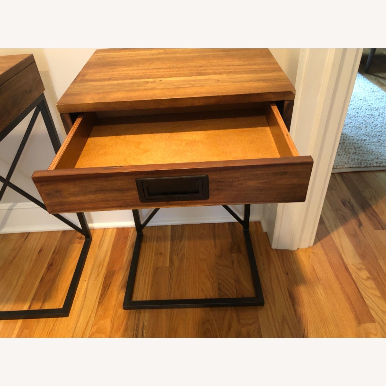 West Elm Narrow Leg End Table - Chocolate - image-3