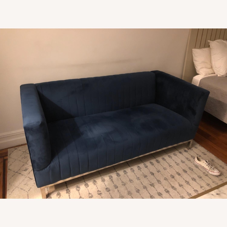 Velvet Navy Couch - image-3