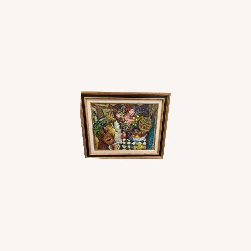 Used Trademark Fine Art Painting in Frame for sale on AptDeco