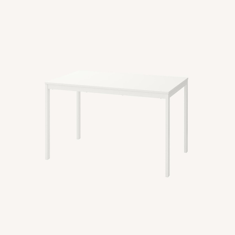 IKEA VANGSTA Extendable Table, White - image-0