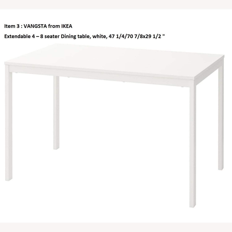 IKEA VANGSTA Extendable Table, White - image-1