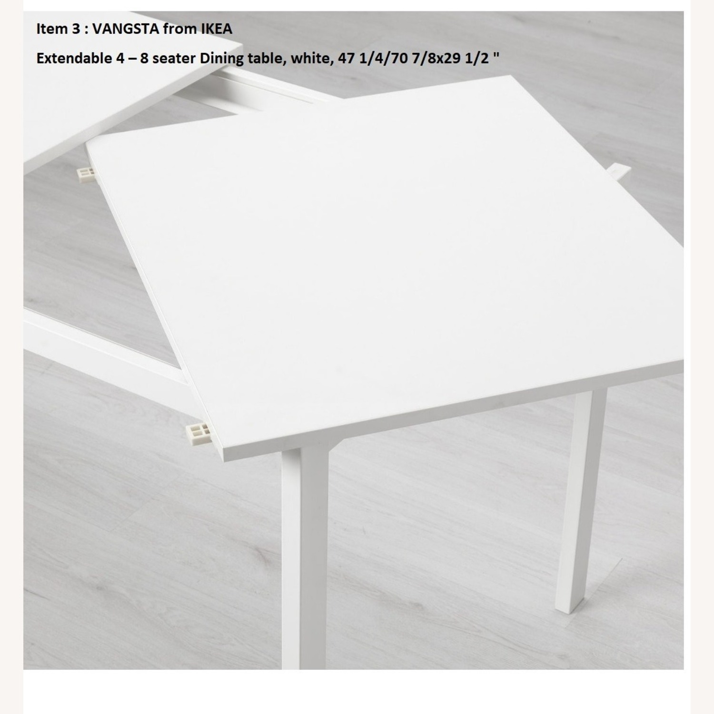 IKEA VANGSTA Extendable Table, White - image-2
