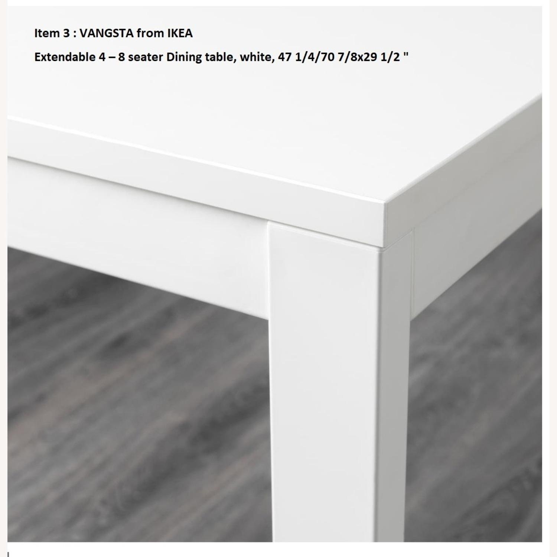 IKEA VANGSTA Extendable Table, White - image-3