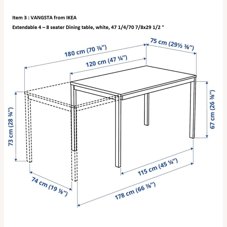 IKEA VANGSTA Extendable Table, White - image-4