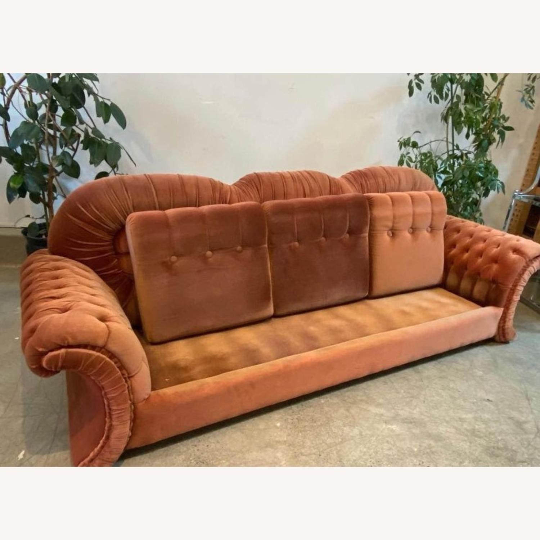 Vintage Velvet Couch - image-5