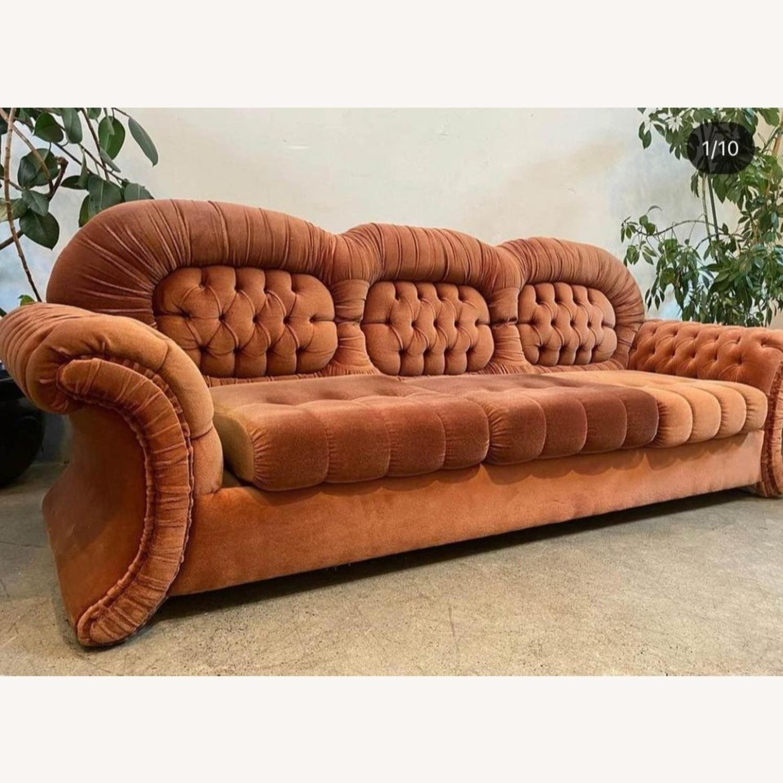 Vintage Velvet Couch - image-1