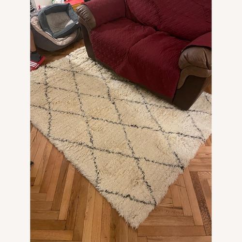 Used nuLOOM Handmade Moroccan Trellis Wool Rug for sale on AptDeco
