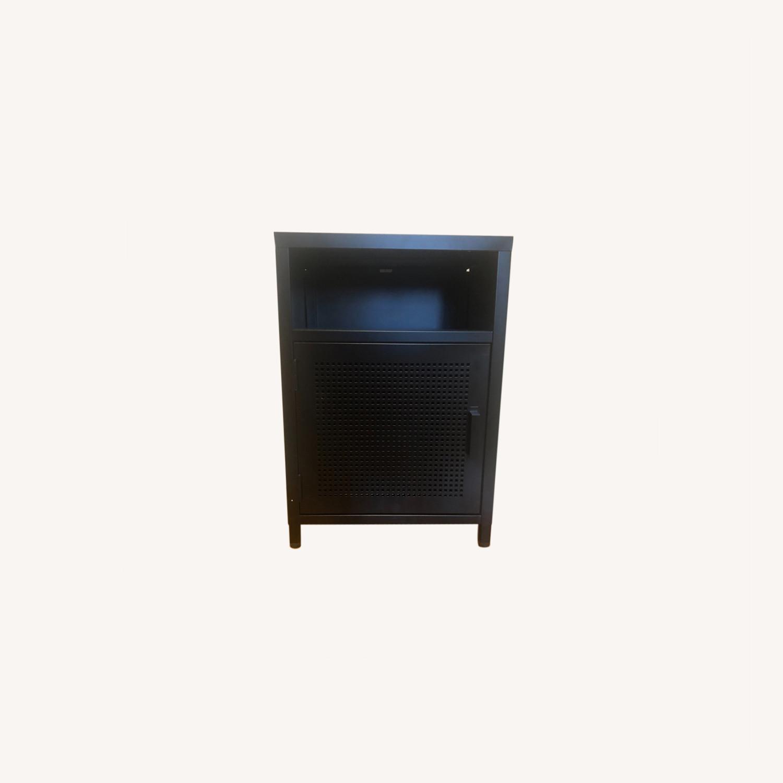 Wayfair Black Metal Cabinet - image-0