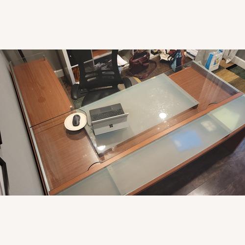 Used Management Desk + Return + 3 Drawer Organizer Set for sale on AptDeco