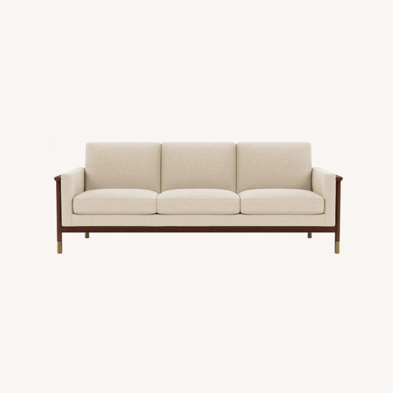 "Jason"" 85"" Walnut Mid-century Sofa - image-0"