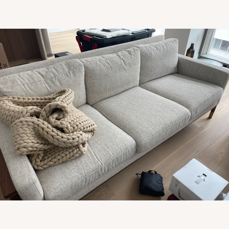 "Jason"" 85"" Walnut Mid-century Sofa - image-2"