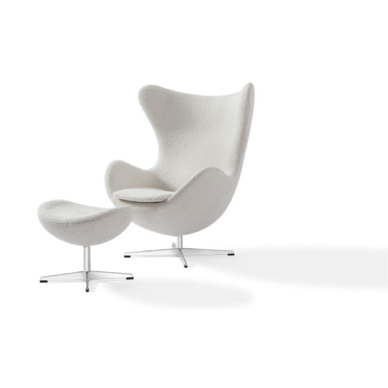 Kardiel Premium Twill Amoeba Chair and Ottoman - image-6