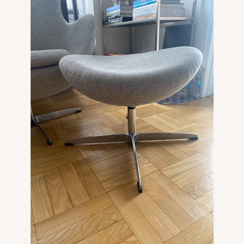 Kardiel Premium Twill Amoeba Chair and Ottoman - image-5