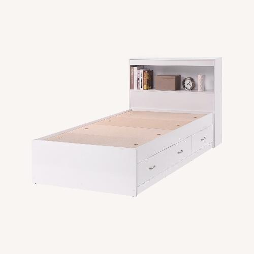Used Twin Captain Bed with 3 Drawers and Headboard for sale on AptDeco