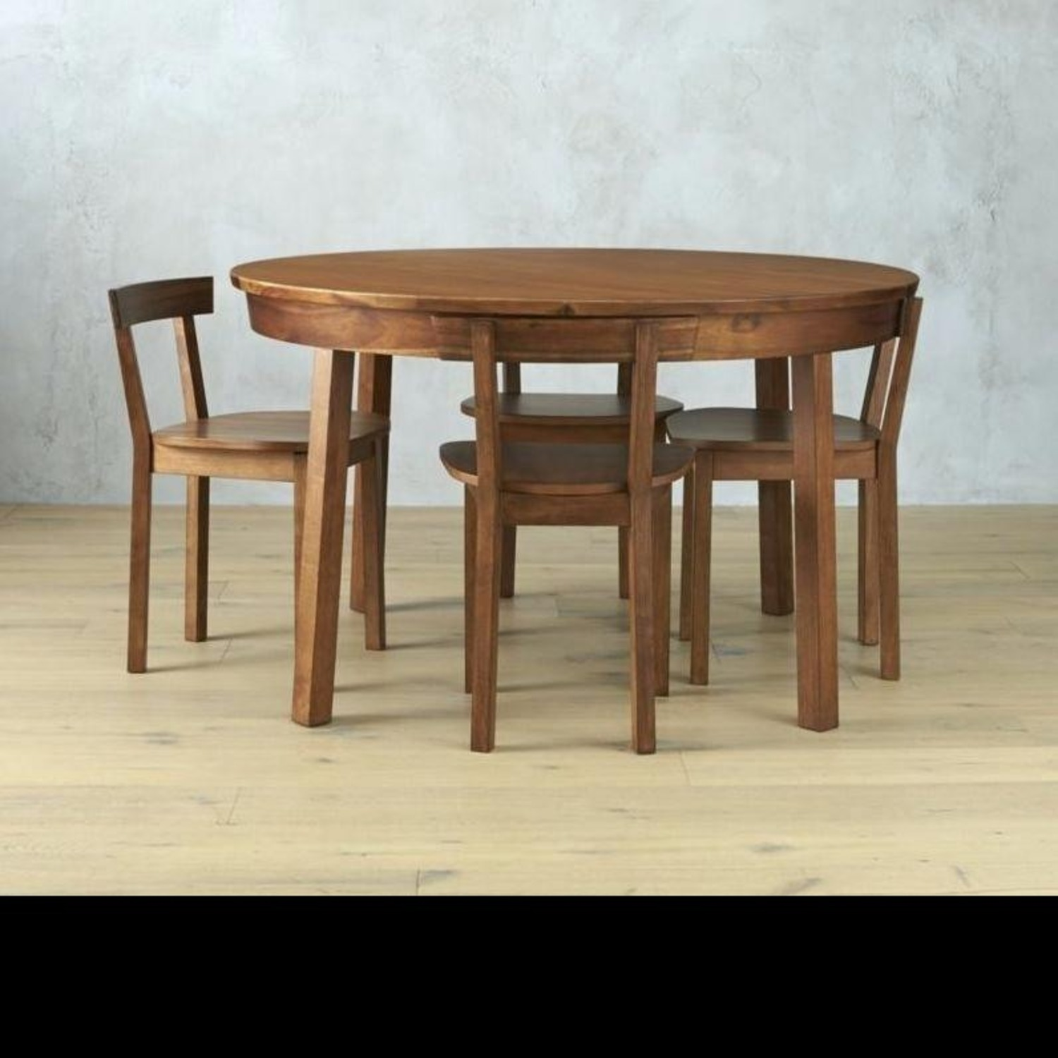CB2 Round Dining Table w/ 4 Inlaid Chairs - image-2