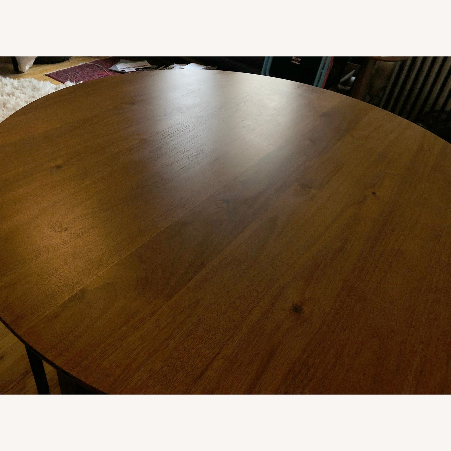 CB2 Round Dining Table w/ 4 Inlaid Chairs - image-5