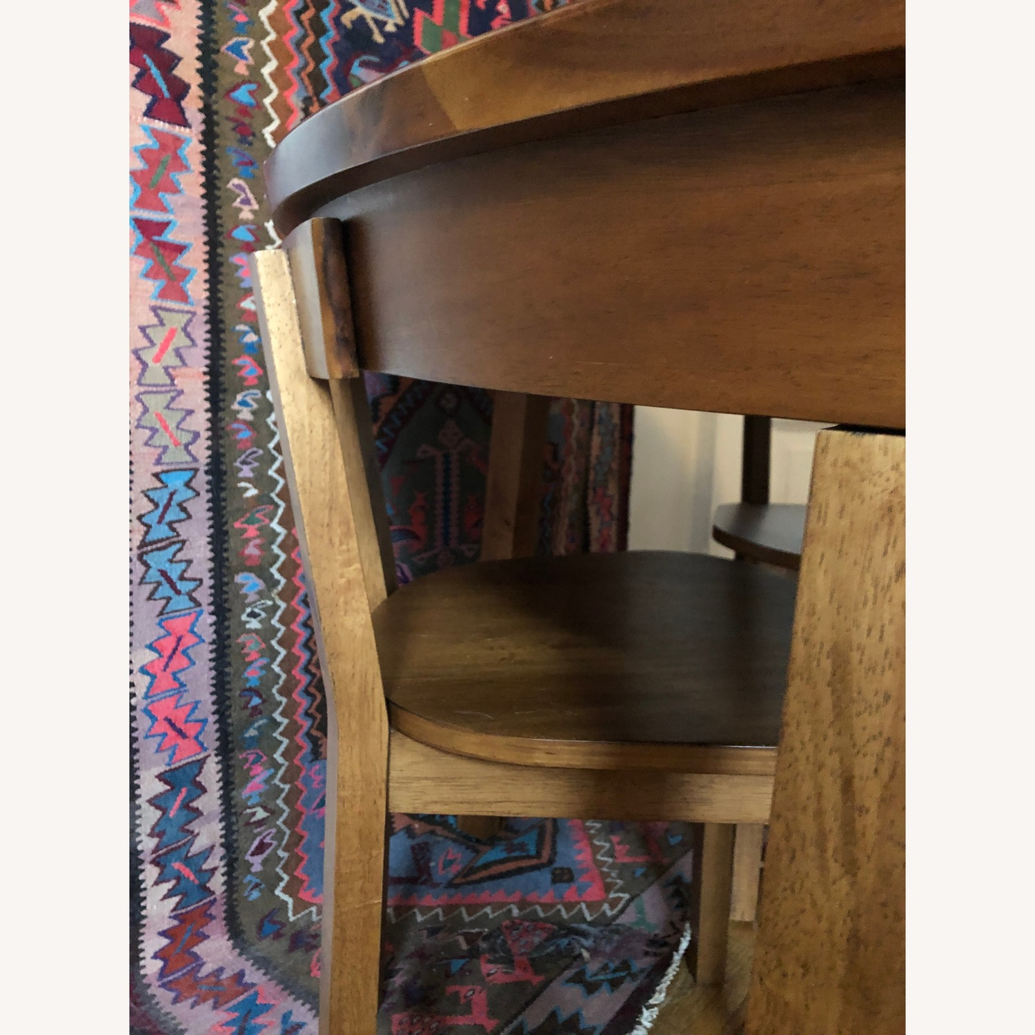 CB2 Round Dining Table w/ 4 Inlaid Chairs - image-6