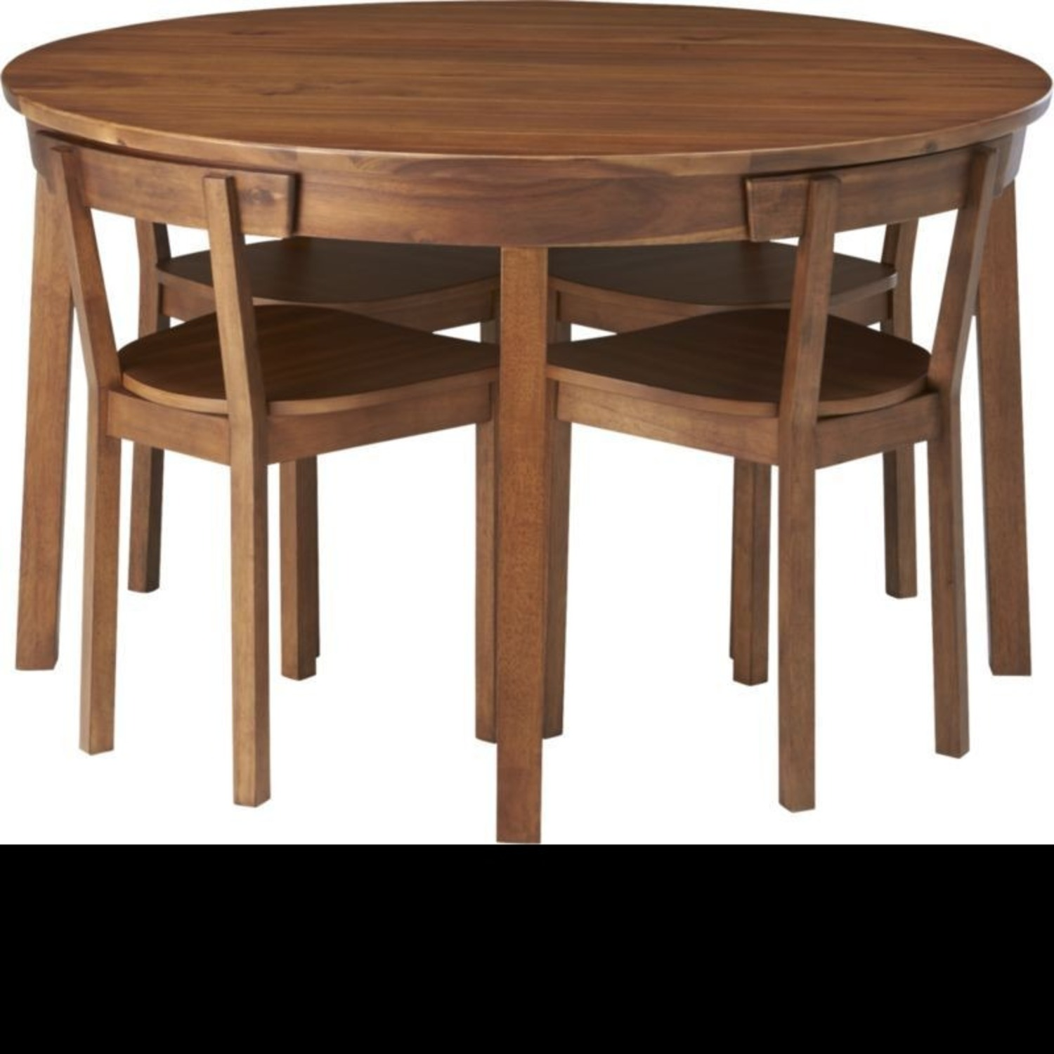 CB2 Round Dining Table w/ 4 Inlaid Chairs - image-1