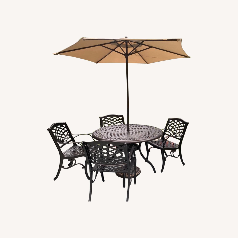 Patio Set with Umbrella - image-0